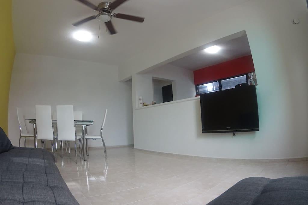 Living & Dining Room + TV