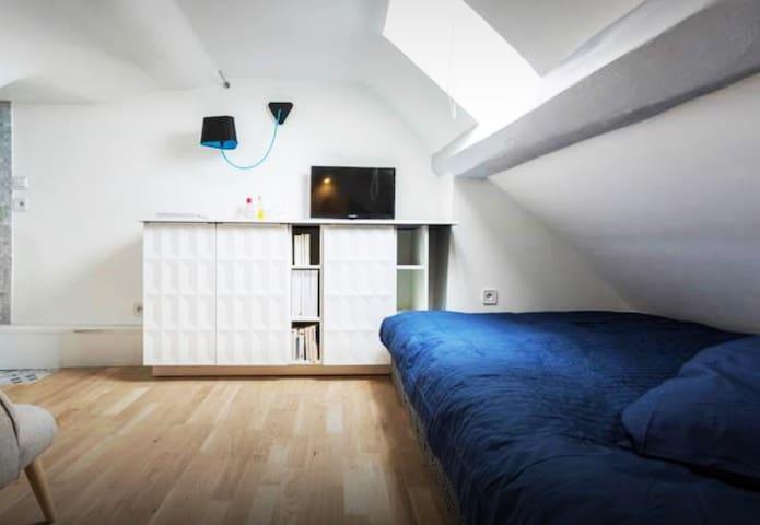 Rooftop designer studio in Paris super center