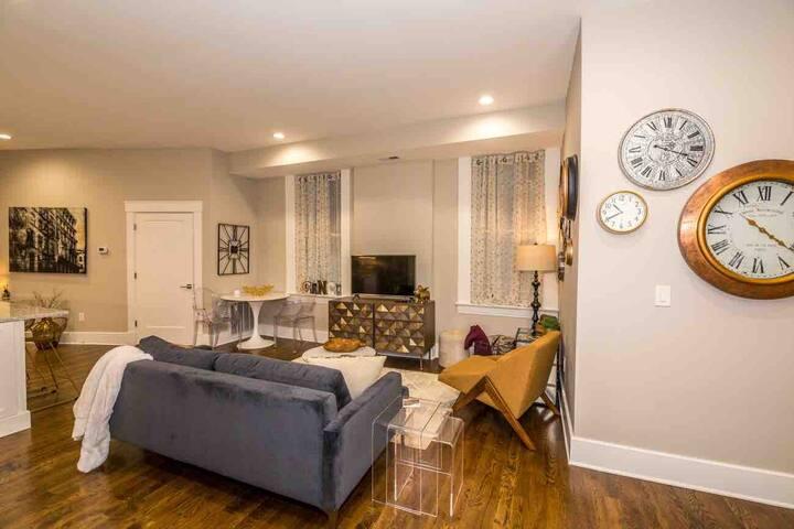 Designer furnishings throughout!