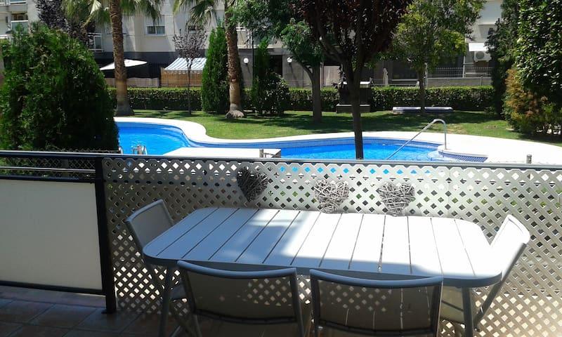 Tranquilidad, piscina, jardín, WIFI - El Puig de Santa Maria - Apartment