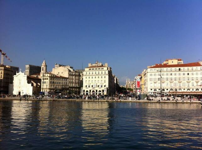 MARSEILLE le vieux port vu de la mer