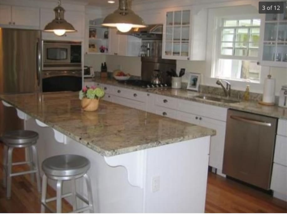 Newly renovated kitchen with large island