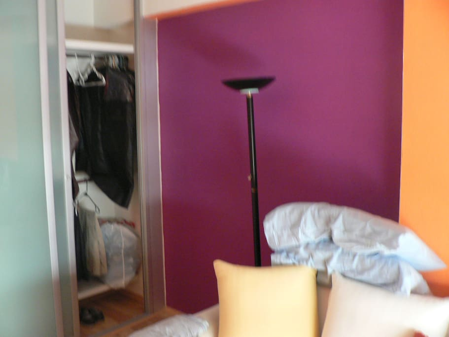 Closet, standard lamp and 4 power outets.
