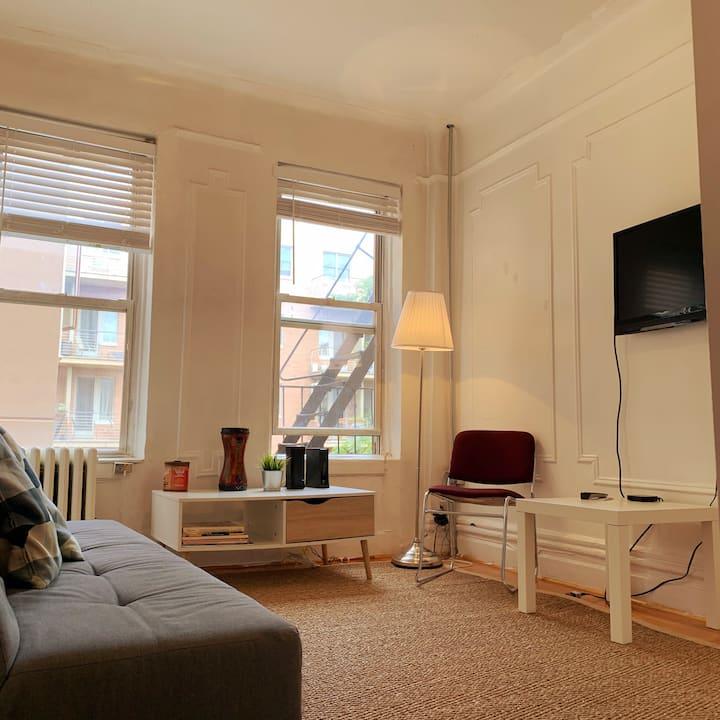 One bedroom, super clean, heart of Williamsburg .