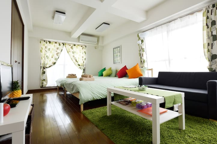 Near NAMBA★Free Wifi★Great Veiw★4min to station★ - Naniwa Ward, Osaka - Apartamento