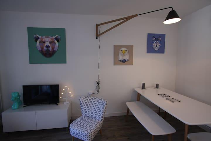 ***Appartement moderne front de neige***