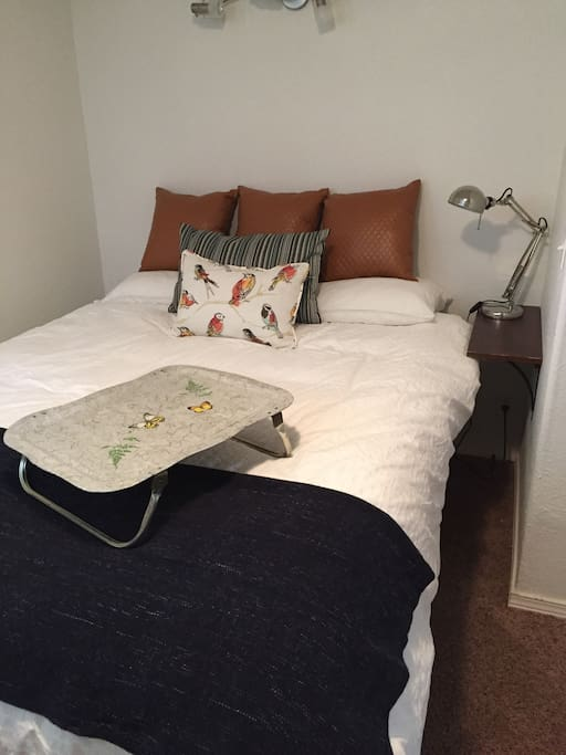 Master with new queen size bed.