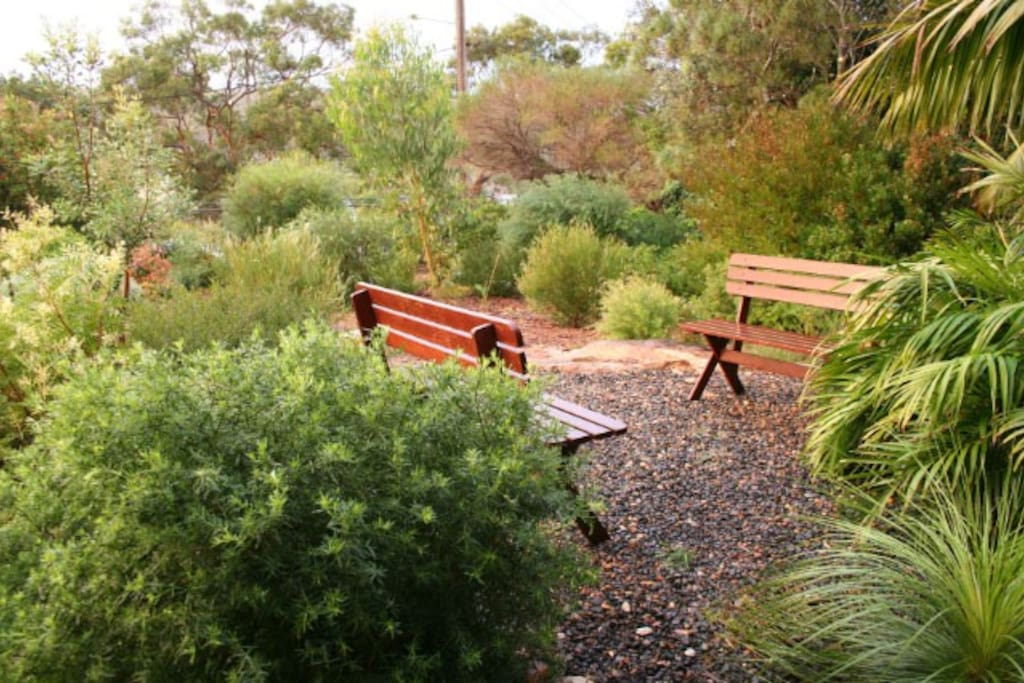 Relax in the front garden, with views over the Royal National Park