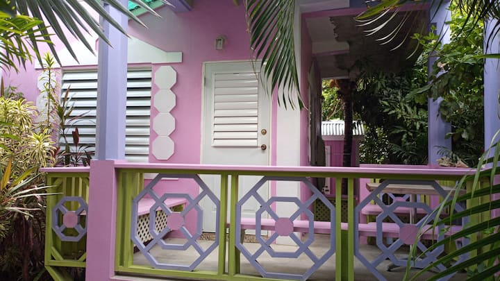 Pinkshack Jellyhouse in a Caribbean Oasis