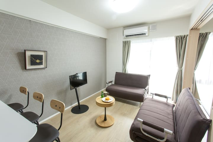 1 stop from Osaka sta. NEW Apt with WiFi