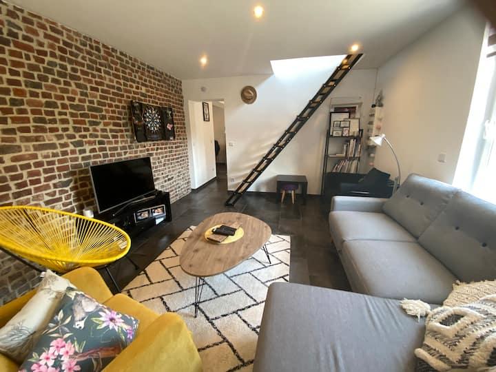 Maison cosy & confortable av fibre à 5' de Béthune