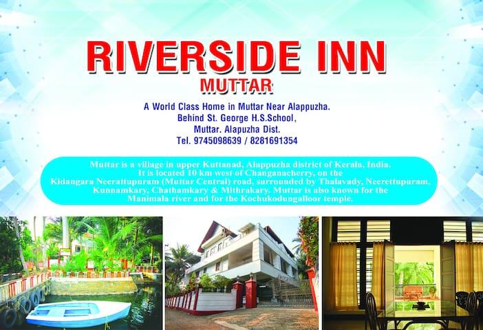 Riverside Inn Muttar, Alappuzha, Kerala. India.