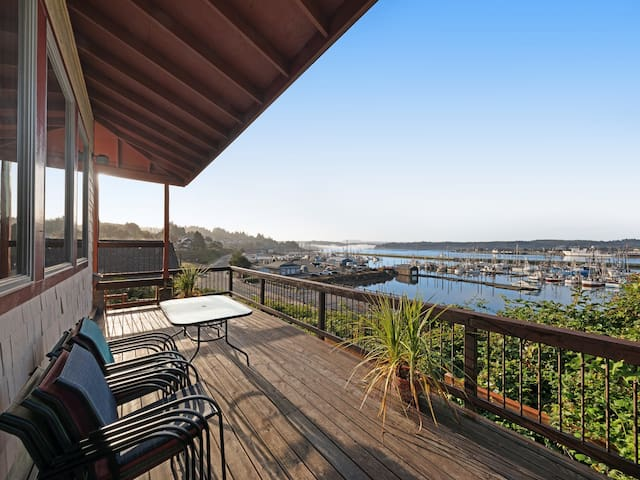 Best view in town! Renovated home w/ sauna - walk to the Bayfront - 1 dog OK!