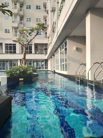Apartemen full furnished di Bintaro anti banjir