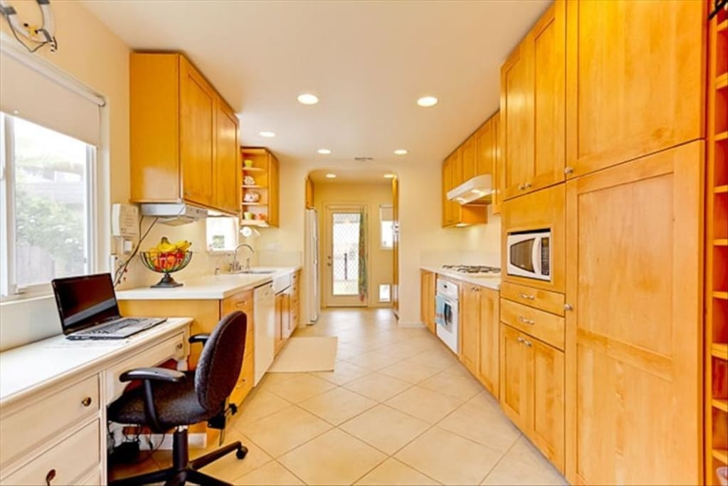 Gorgeous fully-upgraded and stocked kitchen so you can make any home cooked meal