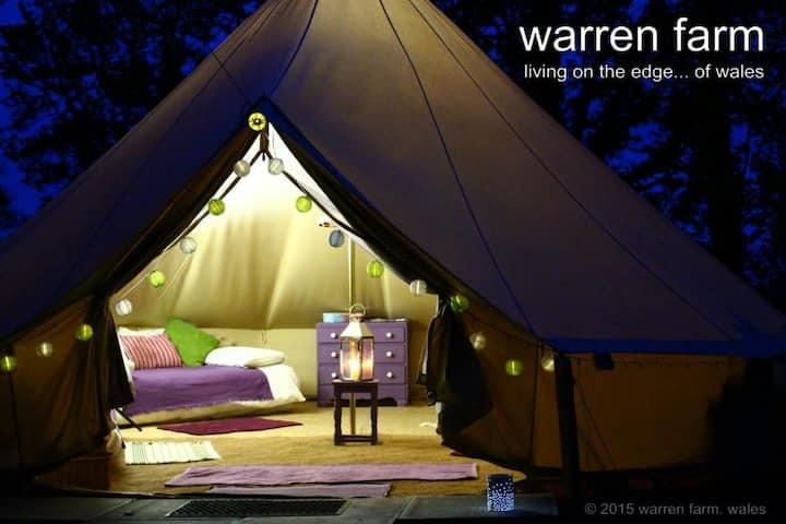 Damson bell tent on Pembs Coast