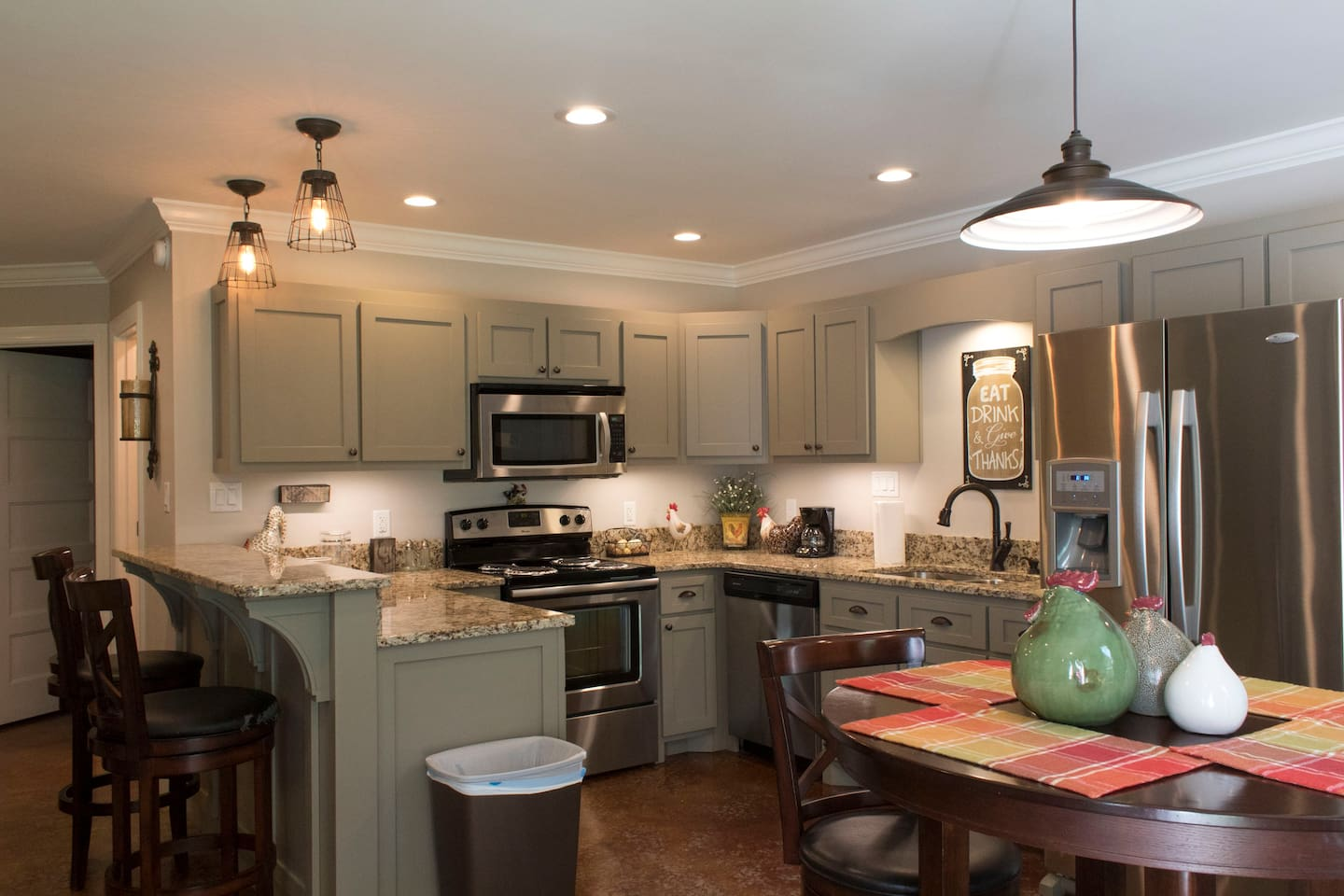 Fully furnished kitchen with coffee provided