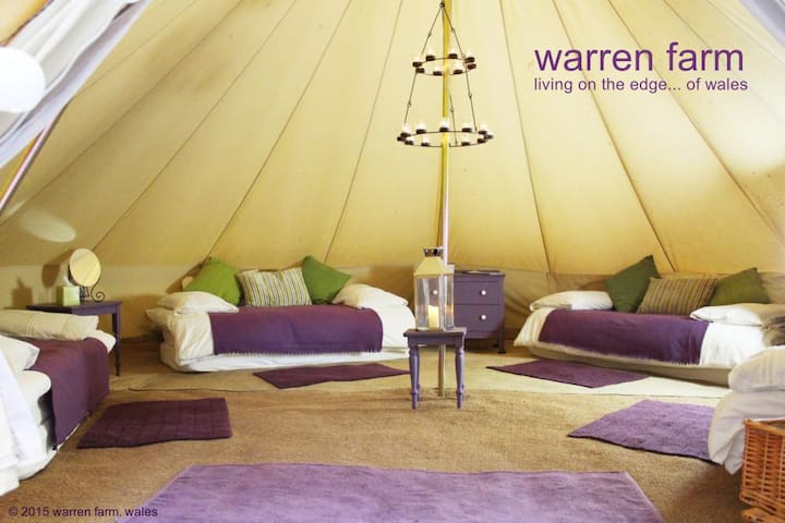 All of our tents are really spacious and comfortably furnished