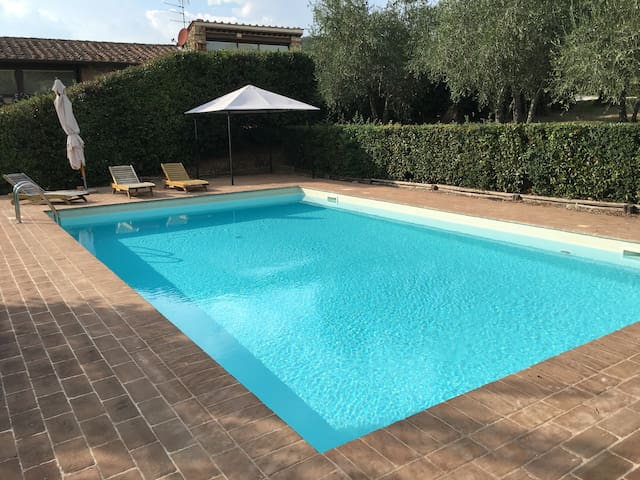 Poggiorosso in countryside with swimming pool