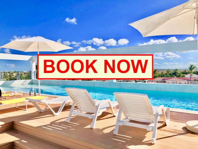 DELUXE 1BDR 4GUESTS WIFI ROOFTOP POOL BEACH CLUB