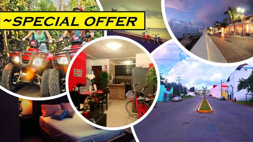1FULLflat+1ATV|3Bicycles|Snorkes|FREE+Vespa PROMO
