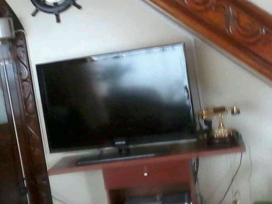 Televisor con cable.