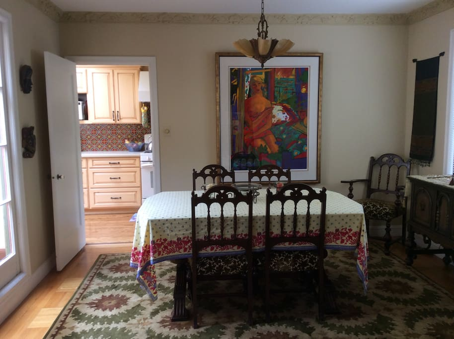Separate dining room - take advantage of the kitchen and great morning light.  (Table can expand to seat 8)