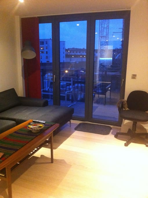 Communal balcony from the living room