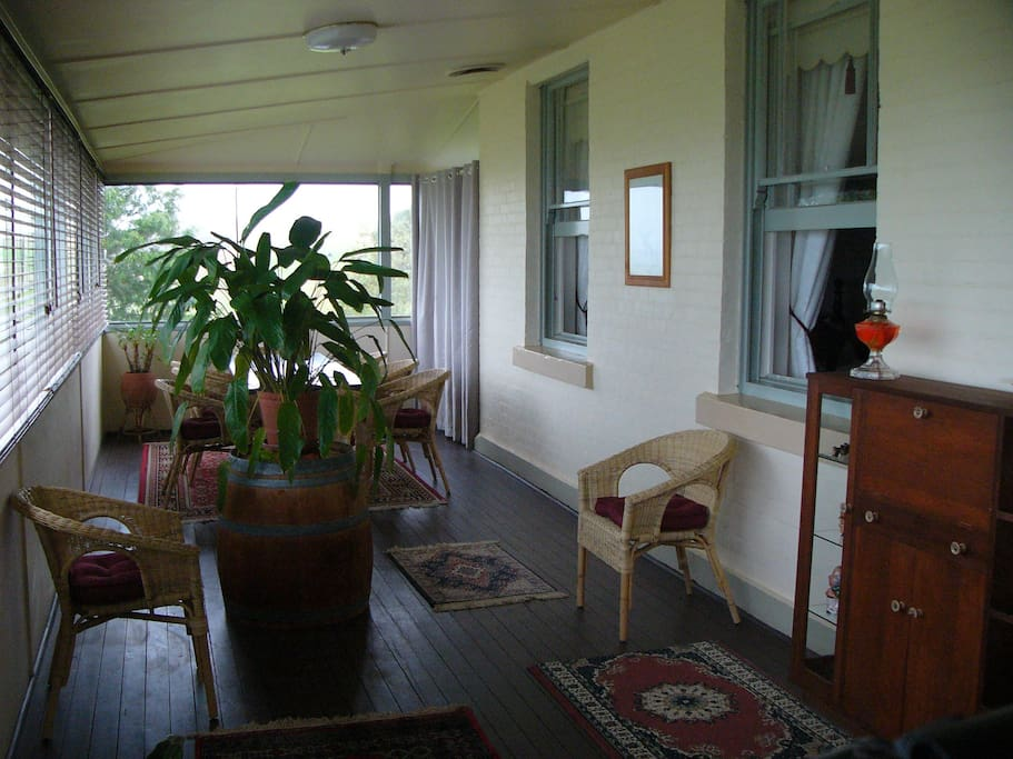 The Grand Veranda - our 1st floor breakfast room, great on a cold winter's day