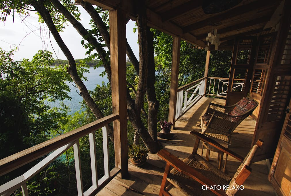 Your private balcony - the perfect spot to finish your book or play some cards.