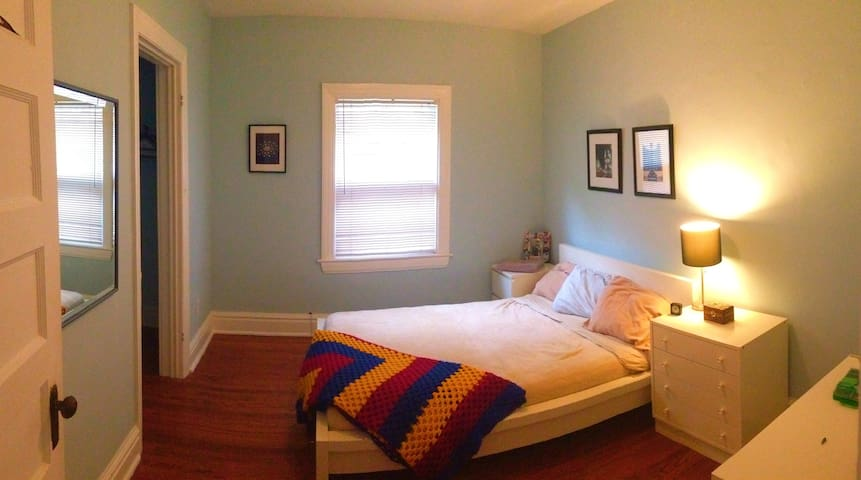 Your Room. Alarm clock (at request), extra blanket, full closet, 3 sets of drawers.