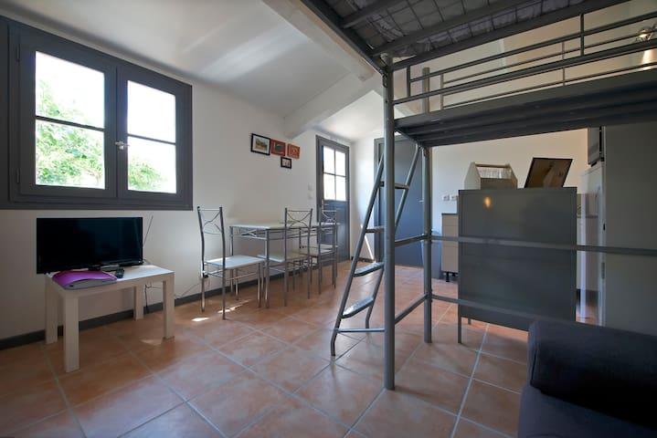 Studio 20m² piscine et bien etre - Blauzac - Apartemen