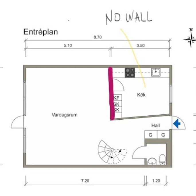 Plan 1th floor