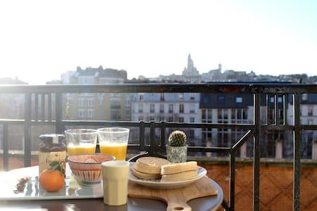 Breathtaking view, two room flat, Paris 18 - Paris