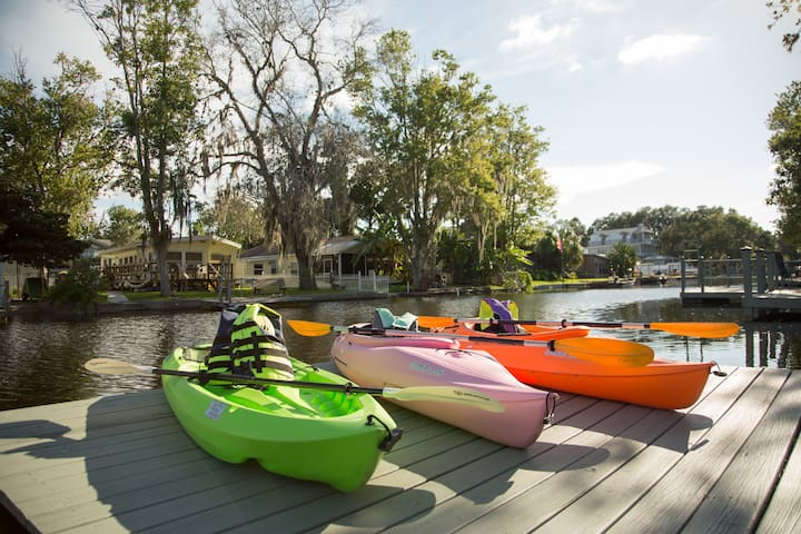 PIRATE COVE-KAYAKS/BIKES/PADDLE BOAT INCLUDED!!! - Weeki Wachee - Huis