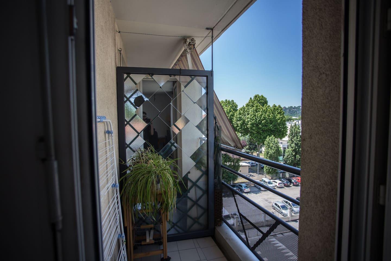 Petit balcon pour les fumeurs