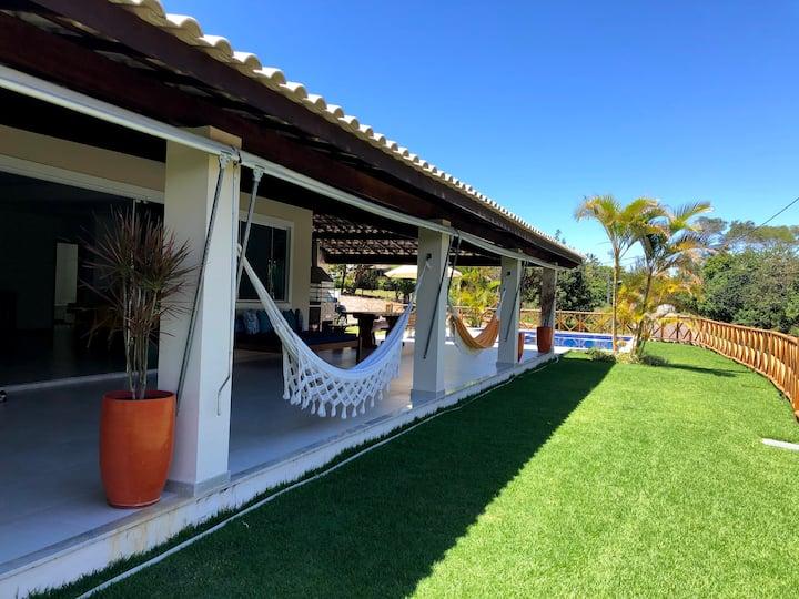 Barra de Jacuípe - Casa 4/4 - Condomínio fechado