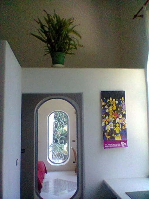 a corner of the house