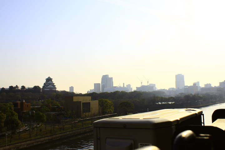 By walk 5 min to Osaka Castle & Station!!With Sake