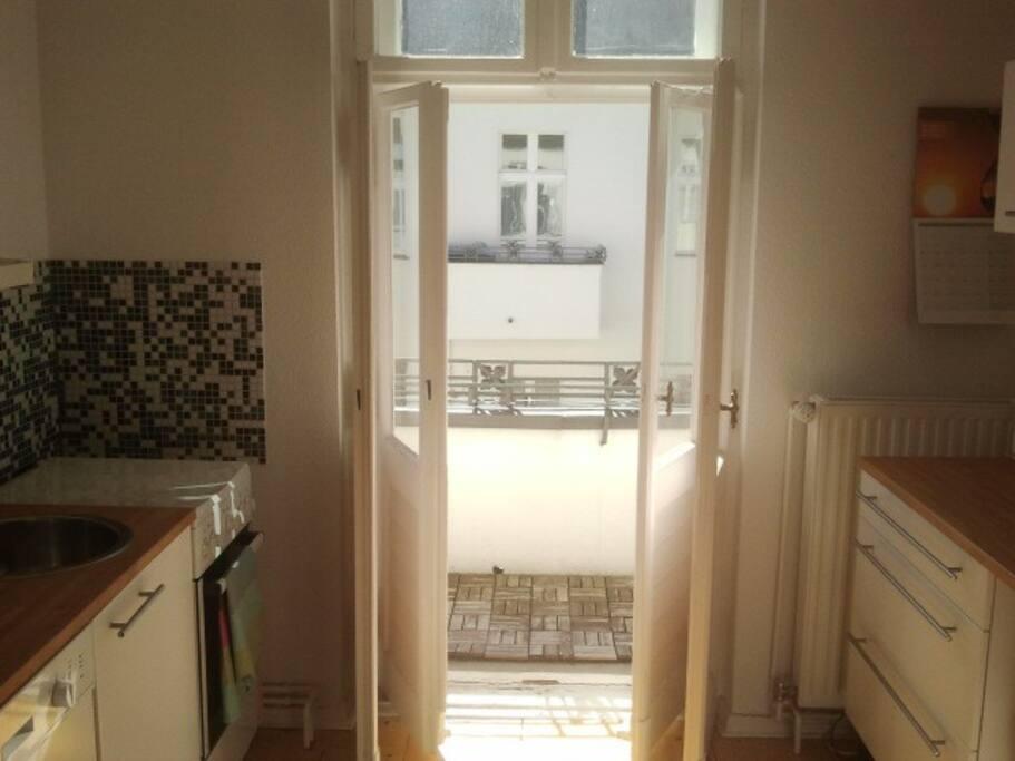 Küche zugang zum Balkon/kitchen - balcony