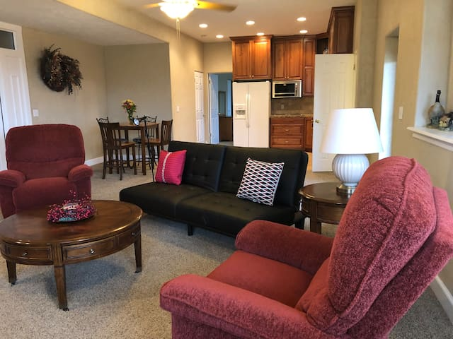 SPACIOUS STONE MOUNTAIN APT.  WSU,  TRAILS, SKIING