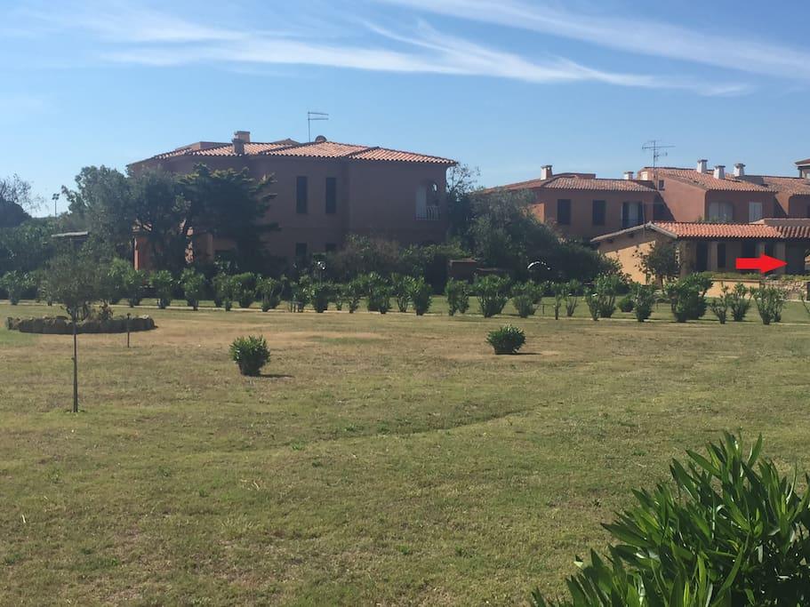 Giardini condominiali antistanti ed ubicazione della casa