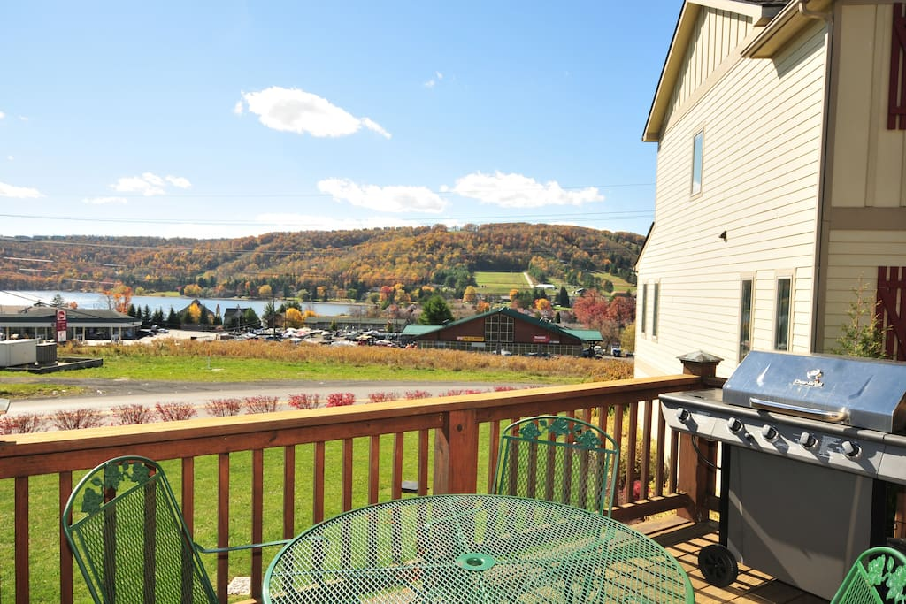 Deck with Views of Ski Slopes at Wisp Resort