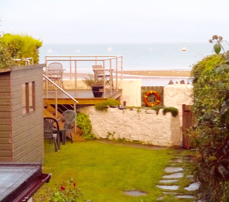 Beach access from garden shared with hosts