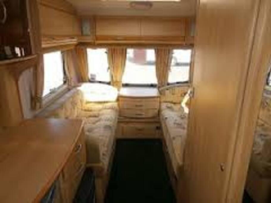 Inside of caravan slightly different angle.