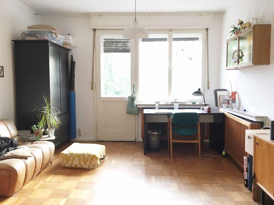 Das private Zimmer mit Balkon