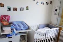 la chambre de bébé à l 'étage