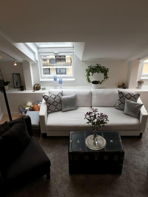 Stue sett fra kjøkken/Living room seen from kitchen