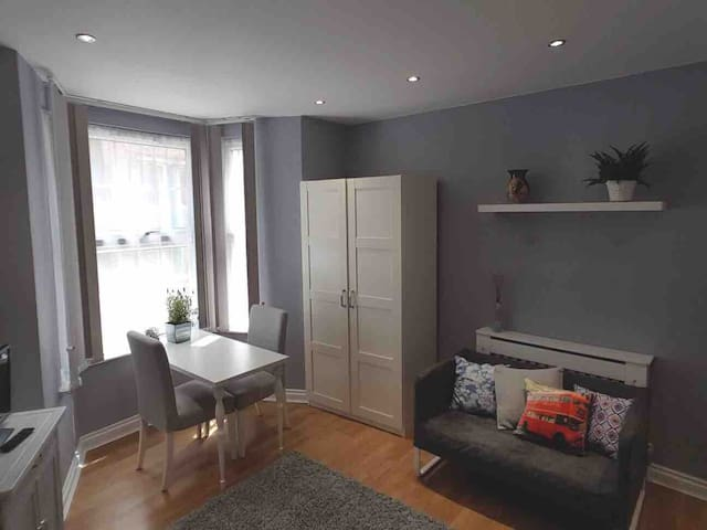Central Studio flat separated kitchen - Purple