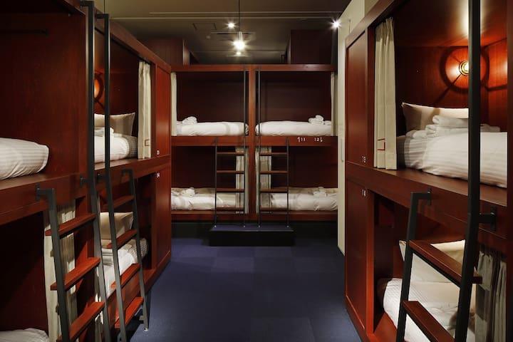 【函館市電「末広町」徒歩約3分】ドミトリールーム 男女共用 二段ベッド1名分
